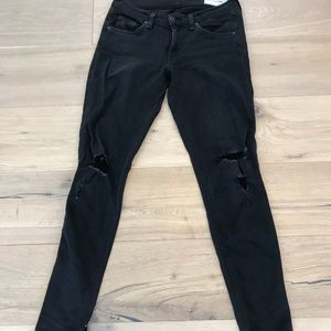 Rag & bone black distressed jeans